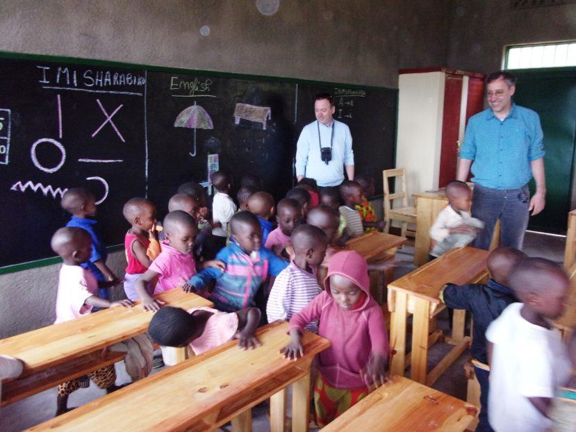Una delle due nuove classi a Zimba